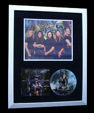 IRON MAIDEN+SIGNED+FRAMED+X FACTOR+BLAZE BAILEY=100% GENUINE+EXPRESS GLOBAL SHIP