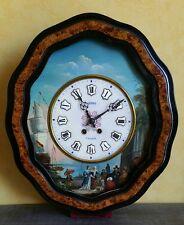 Pendule oeil de boeuf peint Napoléon III Henri à Nancy 1855-1858 Vincenti