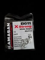 Fulling Mill 35025 Grab Gape Barbless HooksBlack Nickel50 Hooks per Packet