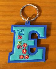 Rubber Name Key Fobs Key Rings ELAINE - E Shape