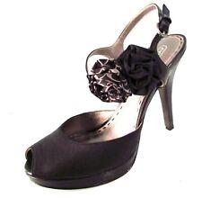 Coach Addysen Satin Rosette High Heels Black Size 8.5B