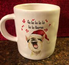 Llama Mug Santa Hat Fa La La Christmas Holiday 20oz Fa La La La La La La Pier 1
