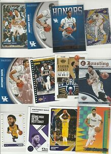 ANTHONY DAVIS AD LOT (26) DIFFERENT W 5 INSERTS KENTUCKY HONORS PARALLELS STICKR