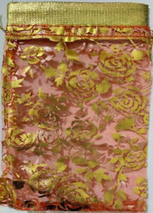 Red Golden Zari Work jewelry Beautiful Pack & Gift pouch Use For Wedding Pack