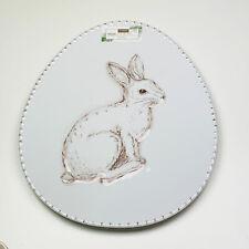 House & Garden Easter Bunny Rabbit Oval Egg Shaped Melaming Serving Platter Tray