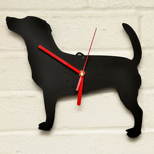 JACK RUSSELL TERRIER Shaped Modern Wall Clock Bedroom Home Decor Gift in BLACK