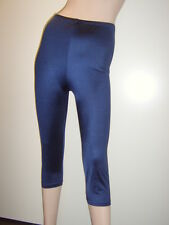Ladies Lycra 3/4 Tights/Dance/Fitness  Navy   size L (UK14)