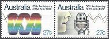 Australia 1982 ABC 50th Anniv JOINED PAIR Unhinged Mint SG 847-8 (R9)