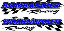 "Bombardier racing checker snowmobile 2 sticker decal set 11""x48"""