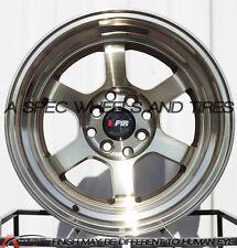 F1R F05 15x8 4x100/114.3 Et0 Machine Bronze Wheels Fits Miata Cabrio Xb Jetta