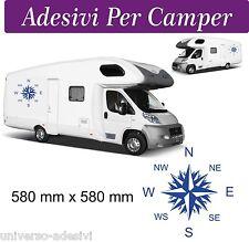 2 Adesivi per Camper - Rosa dei Venti -  58X58 centimetri