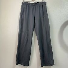 Nike Dri-Fit Gray Zippered Ankle Lounge Sweatpants Men's XL