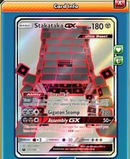 Pokemon TCG ONLINE Stakataka GX (DIGITAL CARD) Celestial Storm Ultra Rare
