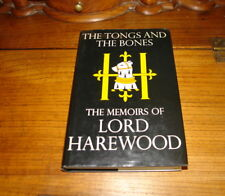 THE TONGS AND THE BONES-THE MEMOIRS OF LORD HAREWOOD-SIGNED COPY