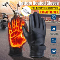 Electric Heated Gloves Breathable Heating Warm for12V / 36-96V Motorcycle