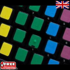 Apprendimento in Bianco Multicolore ADESIVI TASTIERA LAPTOP NOTEBOOK PC COMPUTER