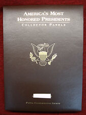 AMERICA'S MOST HONORED PRESIDENTS-COLLECTOR PANELS-POSTAL COMMEM. SOC. NEAT ITEM