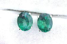 10x8 Oval Green Mystic Topaz Gemstone Gem Stone Sterling Silver Earrings EBS6709