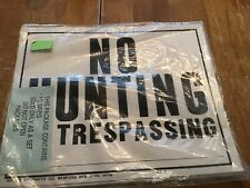 New listing Pack Of 10 Hy-Ko #ct-1 No Trespassing Hunting Signs Thick Paper