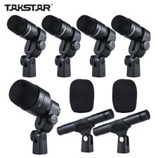 TAKSTAR DMS-D7 Professional Drum Set Wired 7 Microphone Mic Kit Musical E3T5