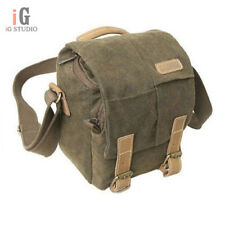 Vintage Canvas DSLR Camera Bag Messenger Shoulder Pad Case For Nikon Sony Canon