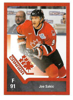 2016-17 Joe Sakic Upper Deck Team Canada Juniors Retro Legends - Avalanche