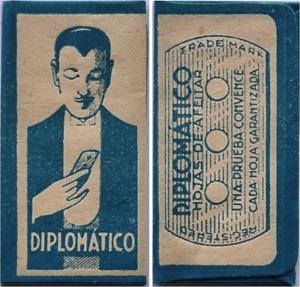 "LAMETTA DA BARBA - RAZOR BLADE - HOJA DE AFEITAR ""Diplomatico"""