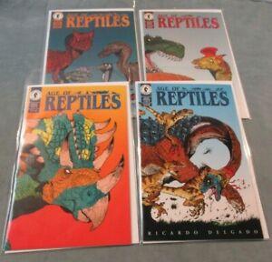 1993 Age of Reptiles #1 2 3 4 Comic Book Lot Dark Horse Ricardo Delgado Modern 1