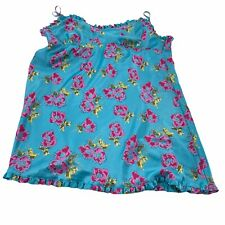 Victoria's Secret Angels Satin Nightgown Sleeveless size Large ruffled Short