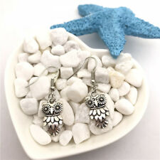 Owl Earrings Tibet silver Charms Earrings Charm Earrings for Her