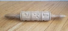 Vintage Wooden Rolling Pin with Cut Outs
