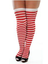 Red and White Striped Stockings Wheres Wally Christmas Elf Fancy Dress