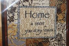 HOME IS WHERE YOUR STORY BEGINS cross stitch kit Bucilla NIP