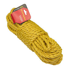 """3/8"""" inch x 50' feet Twisted POLY ROPE, Yellow Polypropylene"""
