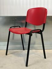 BRAND NEW:RED/ BLACK FUNKY DESIGNER/ TEXTURED PLASTIC/OFFICE/HOME CHAIR