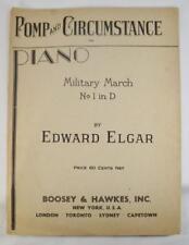 Pomp And Circumstance Vintage Sheet Music 1930 Edward Elgar Adolf Schmid (O)
