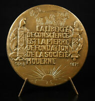 Medal Edgar Quinet Homme Political Republican Anticlérical 1975 Poet Medal