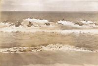 1944 WWII 5x7 Photo testing amphibious tanks water buffaloes