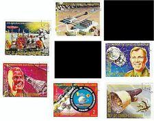 GUINEA ECUATORIAL -Bustina 6 francobolli serie COLLABORAZIONE SPAZIALE USA-URSS