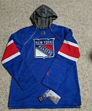 Adidas NHL NY Rangers Jersey Pullover Hoodie Embroidered Size M Medium