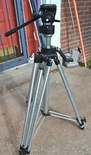 BOGEN MANFROTTO MODEL 3063 CAMERA HEAD WITH 3046 TRIPOD SCHOOL SURPLUS GOOD