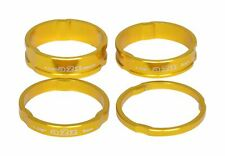 """4PCS Alloy Headset Spacers 1 1/8"""" - 3mm,5mm,8mm,10mm Gold MTB Bicycle"""