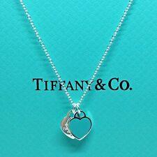 Sterling Silver Collar CORAZÓNES VERDE AG 925 Genuine Tiffany & Co. bag