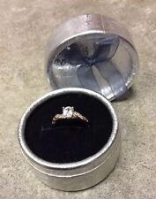 Beautiful Dainty Women's 18k Yellow Gold Imitation Diamond Ring 8 Gr8 Gift 4 Her