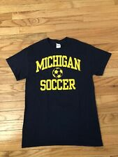 Michigan Wolverines Ncaa Gildan Men's Soccer Shirt Size S