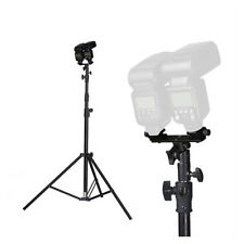 Flash Bracket Double 2 Schuhe Umbrella Halter Swivel Light Stand Speedlight NIU