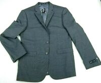 Express Mens Two Button Blazer Gray Stretch Slim Fit Wool Suit Jacket 40R New