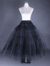New Black 3-Layers Tulle Hoopless Wedding Dress Underskirt/Underdress Petticoat