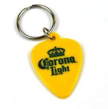 Corona Light Bier USA Schlüsselanhänger Plektrum Guitar Pick Key Ring gelb