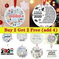 Ornament Christmas Tree 2020 Pandemic Annual Events Family Xmas Lockdown Decor